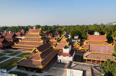 Königspalast von Mandalay, Myanmar Standard-Bild - 25397651