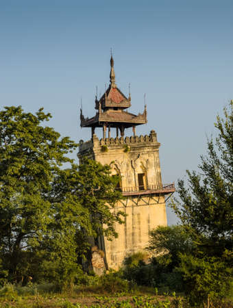 watchtower: Nanmyin watchtower in Inwa ancient city, Myanmar