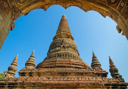 Ancient temple in Bagan, Myanmar photo