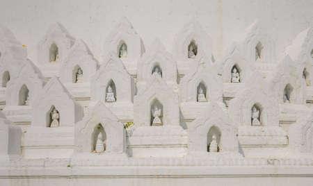 nat: Part of Hsinbyume or Myatheindan pagoda in Mingun, Myanmar