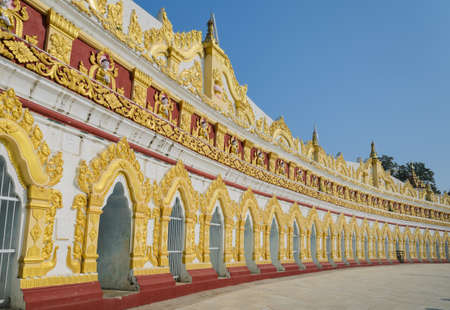 U min Thonze pagoda in Sagaing, Myanmar photo