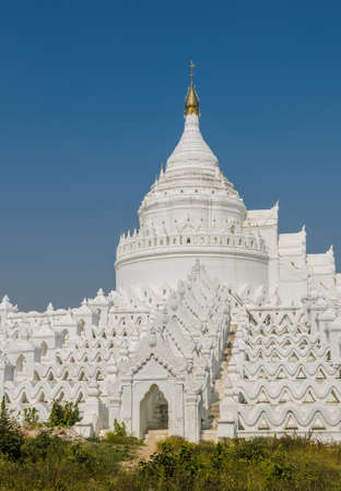 White pagoda of Hsinbyume  Myatheindan  in Mingun, Myanmar photo