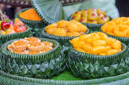 Traditional Thai sweet dessert photo