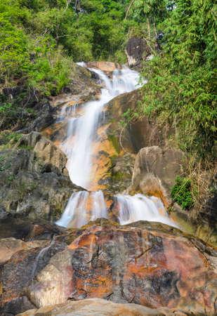evergreen forest: Evergreen forest waterfall in Chanthaburi, Thailand