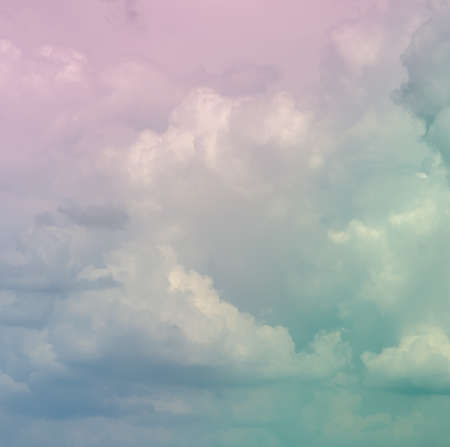 Abstract pastel cloudscape in soft background photo