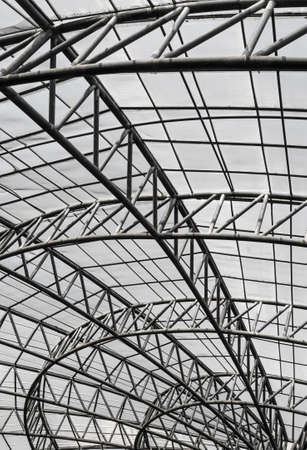 metal structure: Metal roof structure Stock Photo