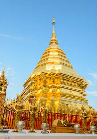 Wat Phra That Doi Suthep is the popular tourist destination of Chiang Mai, Thailand. photo