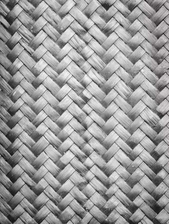 Bamboo weave pattern texture background photo