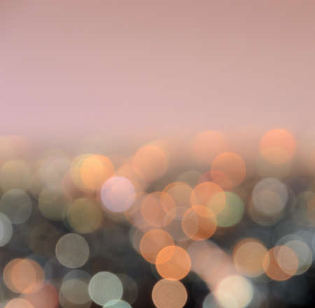 Blurred bokeh city lights abstrct  with space photo