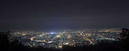 Night view of Chiang Mai cityscape, Thailand photo
