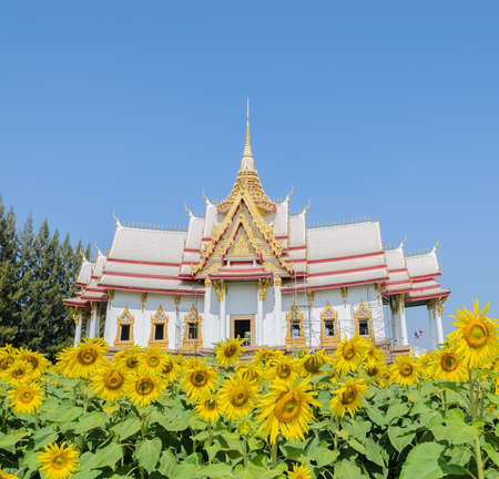 Thai temple in Nakhon Ratchasima or Korat, Thailand photo