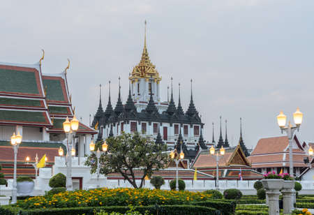 Loha Prasat (Metal Castle) in Wat Ratchanaddaram, Bangkok, Thailand photo
