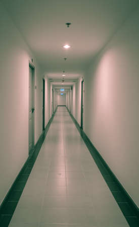 dorm: Long corridor in the dorm or apartment