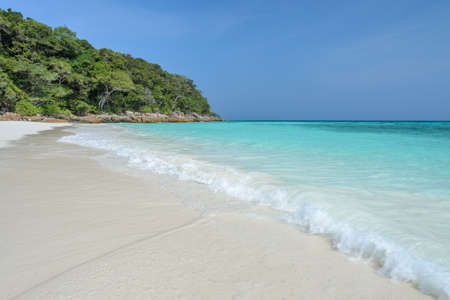 Beautiful white sand beach of Koh Tachai, Similan National Park, Thailand photo