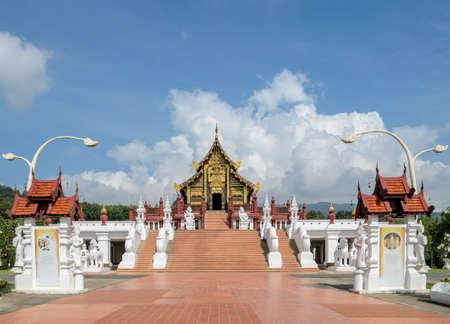 architectural style: Ho Kham Royal Pavilion, the architectural style of northern Thailand Editorial