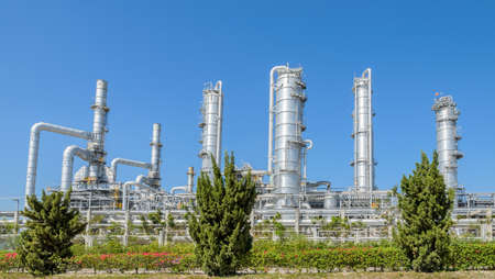 Petrochemical industrial plant in Thailand photo