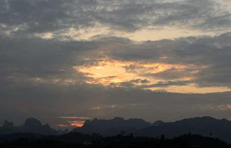 sok: Stunning view of Limestone mountains in Khao Sok National Park, Surat Thani Province, Thailand. Long exposure shot. Stock Photo