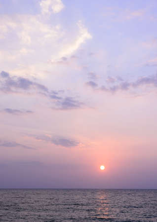 Andaman sea sunset at Khao Lak beach in Phang Nga Thailand photo