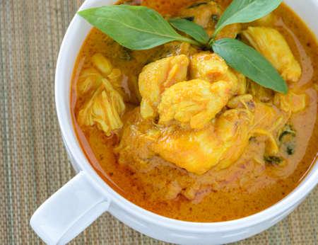cangrejo: Cangrejo carne leche de coco al curry tailand�s picante cocina la sopa Foto de archivo