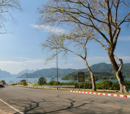 sok: Limestone mountains and lake in Khao Sok National Park, Surat Thani Province, Thailand