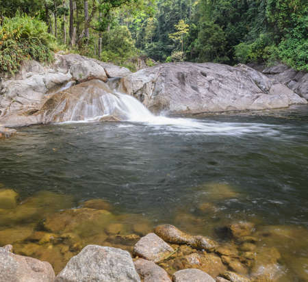 evergreen forest: Karome waterfall, Evergreen forest waterfall in Nakhon Si Thammarat, Thailand