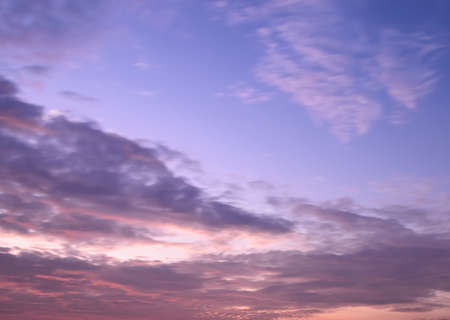 afterglow: Beautiful twilight sky background in soft focus
