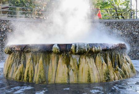 southern thailand: Hot springs pool at Raksawarin Public Park in Ranong, Southern Thailand