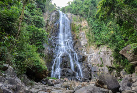 waterfall: Tropical rainforest waterfall of Sunanta waterfall in Nakhon Si Thammarat, Thailand