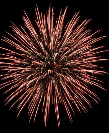 glow pyrotechnics: Colorful fireworks exploding in the night sky Stock Photo