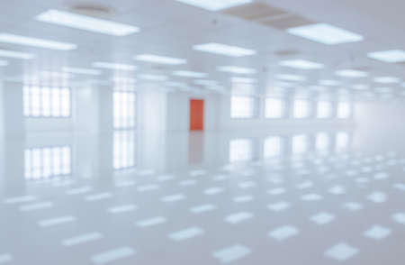 White empty modern office building interior with window shadow. Blur abstract image background Stockfoto