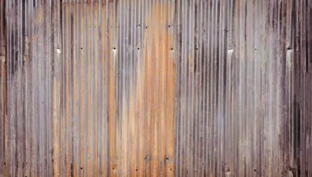 galvanize: Rusty corrugated galvanize steel wall texture background