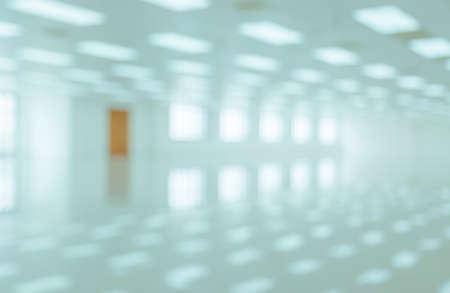 White empty modern office building interior with window shadow. Blur abstract image background Standard-Bild