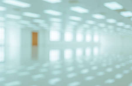 home lighting: White empty modern office building interior with window shadow. Blur abstract image background Stock Photo