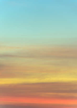 sunset sky: Abstract sunset sky background in soft focus Stock Photo