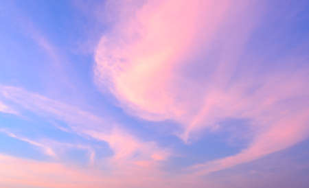 light pink: Abstract sunset sky background in soft focus Stock Photo