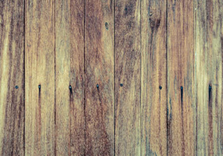 hammered: Rough wooden wall with the hammered nails background. Vintage filter effect image
