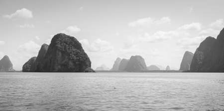 phang nga: Landscapes of limestone island in Phang Nga Bay National Park, Thailand