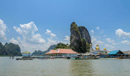 Panyi island or Koh Panyee, a floating fishing village in Phang Nga Province, Thailand