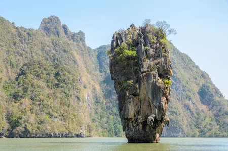 Beautiful landscape of James Bond Island or Koh Tapu in Phang Nga Bay, Thailand