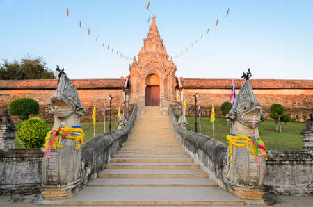 Ancient Buddhist temple of Wat Phra That Lampang Luang in Lampang,Thailand