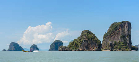 Beautiful landscape of James Bond Island or Koh Tapu in Phang Nga Bay, Thailand