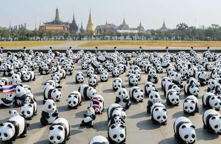 Exhibition of the 1,600 paper-mache panda sculptures world tour