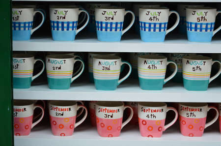 beautiful color of cups photo