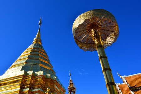 doi: Wat Phra That Doi Suthep, Chiangmai, Thailand Stock Photo