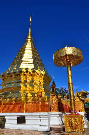 doi: Wat Phra That Doi Suthep,Chiangmai, Thailand Stock Photo