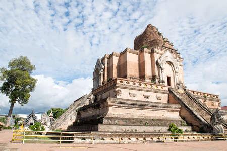 Wat Chedi Luang the landmark of Chiang Mai  Thailand Stock Photo