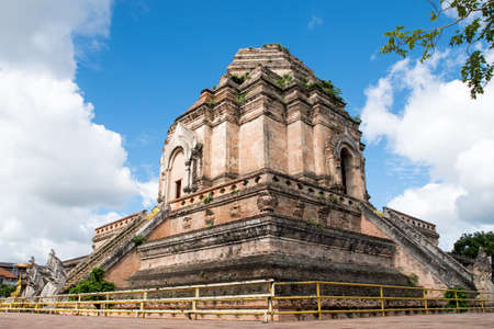 Wat Chedi Luang the landmark of Chiang Mai  Thailand Stock Photo