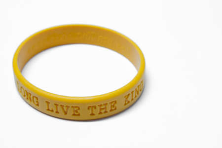 Wrist Band  Long Live The King of Thailand  Stock Photo