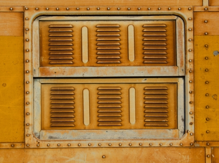 Vintage railroad container doors with rusty and old color photo