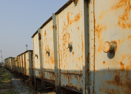Vintage railroad container with rusty and old color   photo